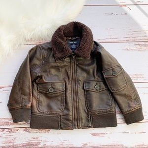 Cherokee Faux Leather Bomber Jacket